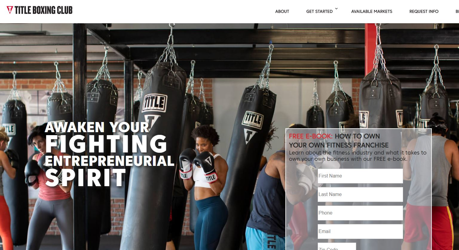 title boxing club franchisor website